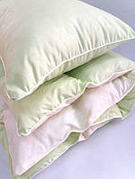Комплект детский  одеяло и подушка в кроватку зеленый