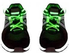 Шнурки smart Светящиеся шнурки Disco Green SKU_508367