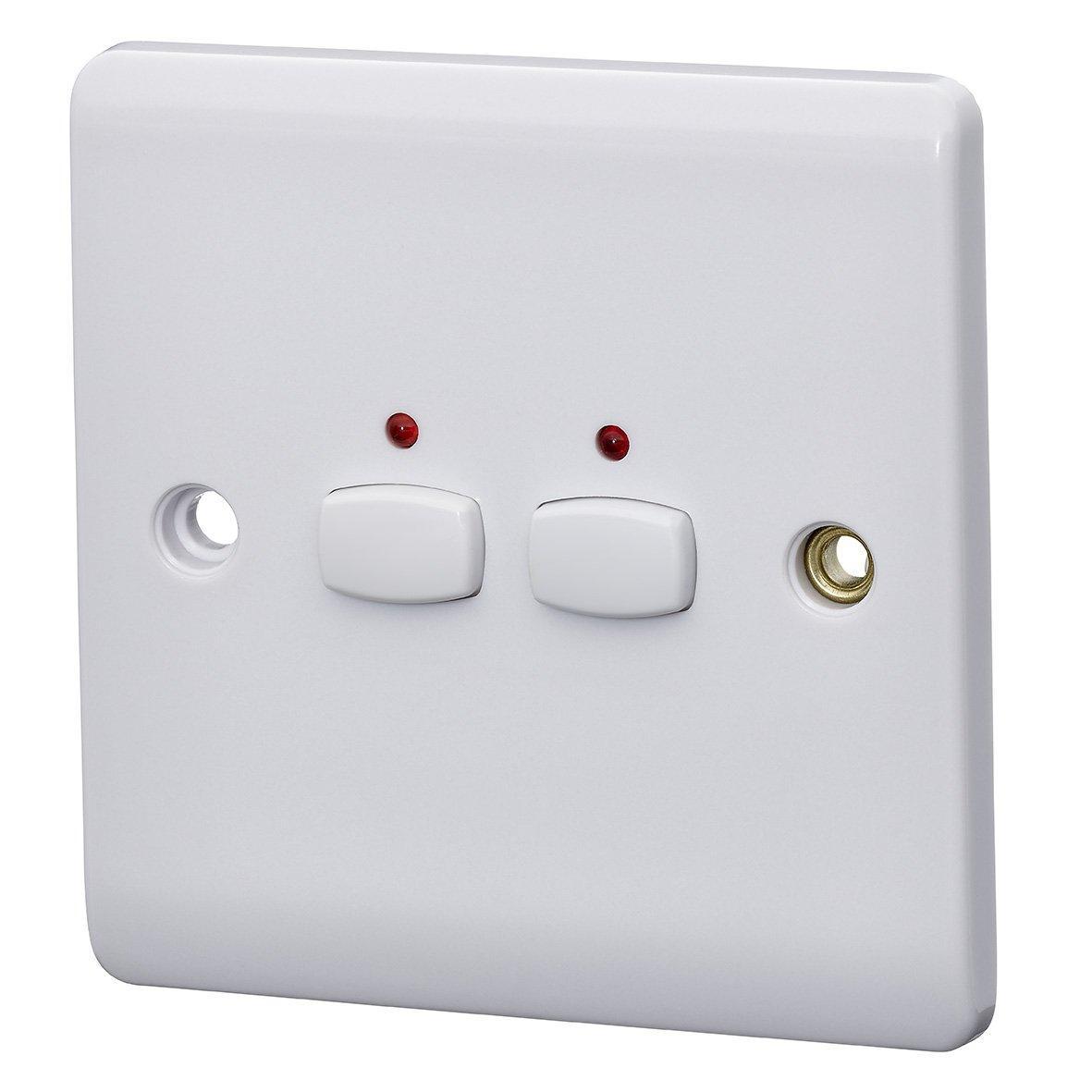 Выключатель Mihome 2-Gang Light, 240 В, белый совместимый с Alexa Energenie MIHO009