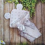 Конверт  с глиттерным принтом на выписку  для новорожденных, фото 4