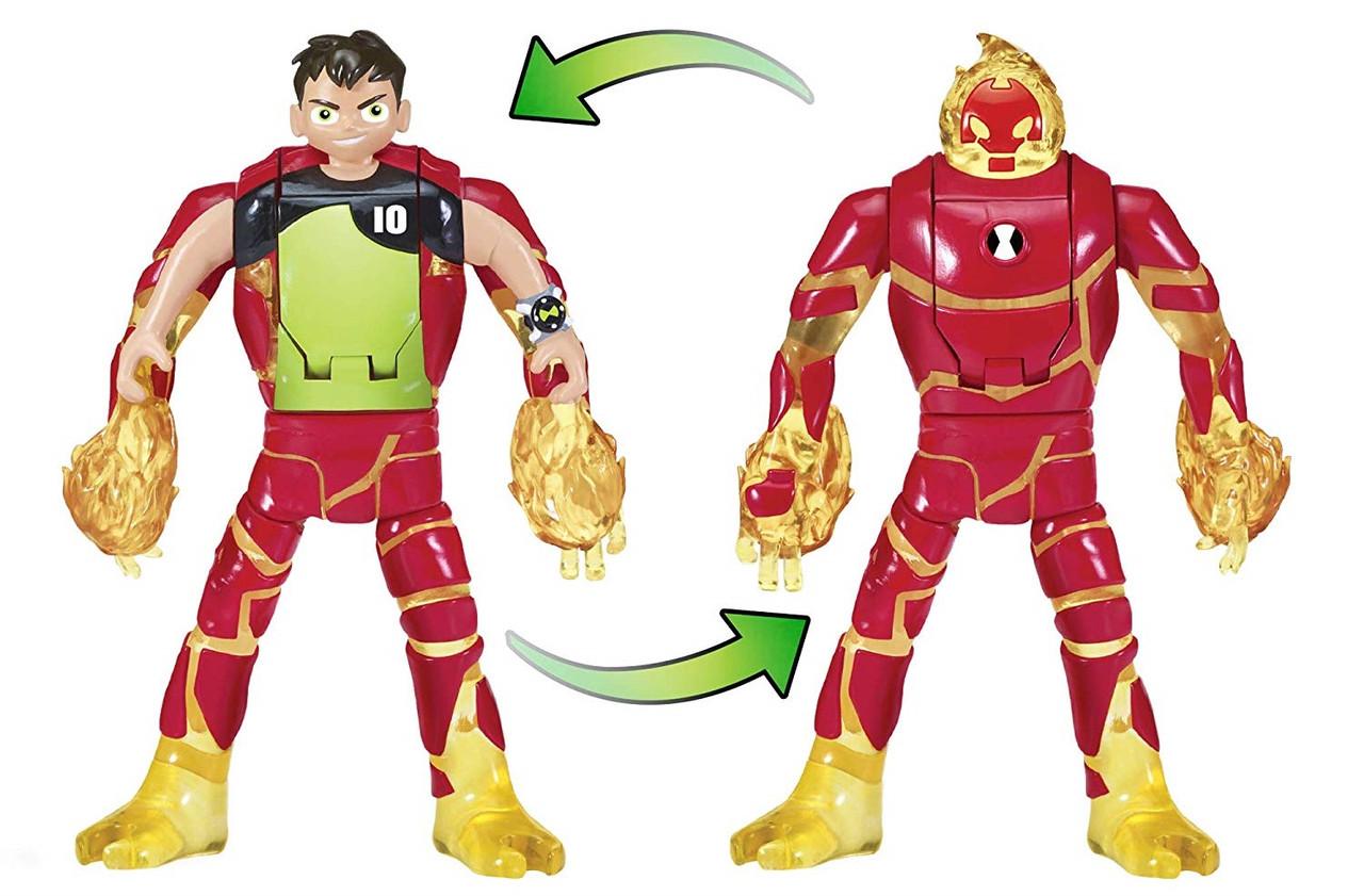 """Фигурка Ben 10 -трансформер """"Бен и Человек-огонь"""" Ben 10 Ben to Alien Transforming Figure"""