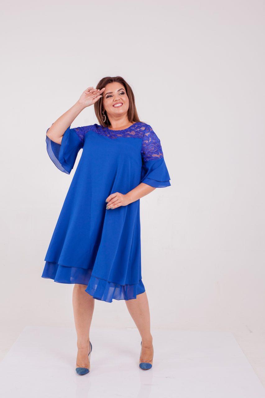 Женское шифоновое платье бутылка 8322