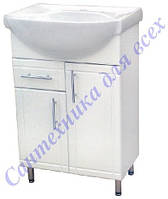 Тумба с раковиной и выдвижными ящиком на ножках в ванную Стиа-60 Т3/4