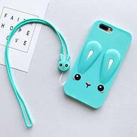 Чехол Funny-Bunny 3D для iPhone 6 Plus / 6s Plus Бампер резиновый голубой