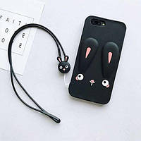 Чехол Funny-Bunny 3D для iPhone 6 Plus / 6s Plus Бампер резиновый черный