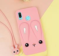 Чехол Funny-Bunny 3D для Xiaomi Redmi Note 7 / Note 7 Pro Global бампер резиновый Розовый, фото 1