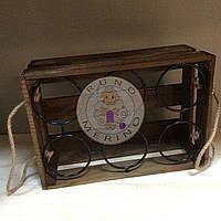 Деревянная подставка для вина (6 бут.)
