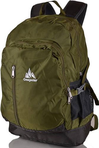 Стильный рюкзак на каждый день 20 л. Onepolar W1800-green зеленый