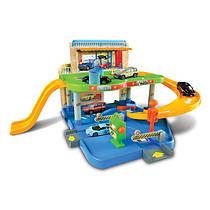 """Игровой набор Bburago """"Гараж и паркинг"""" (2 уровня, 1 машинка 1:43)"""