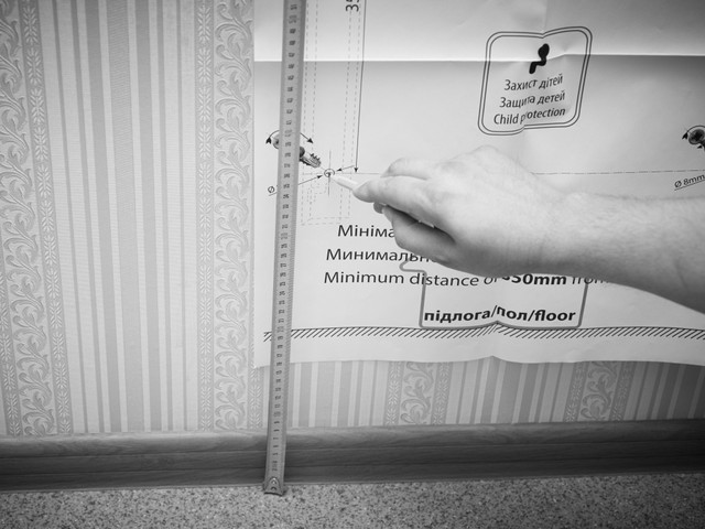 Монтаж термопанели ТЕПЛОКЕРАМИК ТСМ 600: разметка