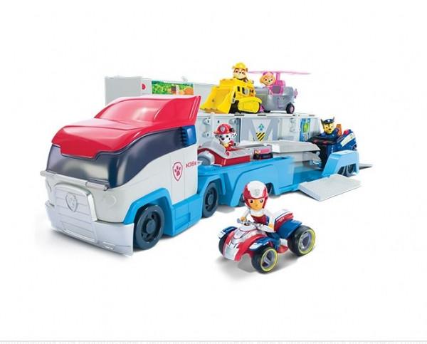 """Игровой набор Paw Patrol """"Транспортировщик для спасательных автомобилей с фигуркой Райдера"""""""