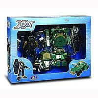 Игровой набор X-bot - робот-трансформер (15 см), Танк (зеленый), Воин