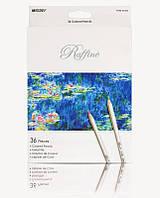 Карандаши цветные Marco Raffine, серый корпус, 36 цв., шестигранные