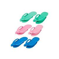 Тапочки-вьетнамки одноразовые изолон (3 мм. 10 пар в уп.) цветные