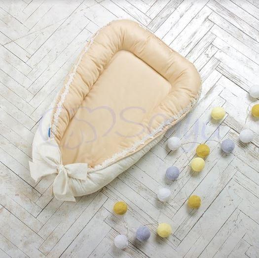 Кокон для новонароджених Маленька Соня Mon Cheri бежевий
