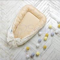 Кокон для новорожденных Маленькая Соня Mon Cheri бежевый