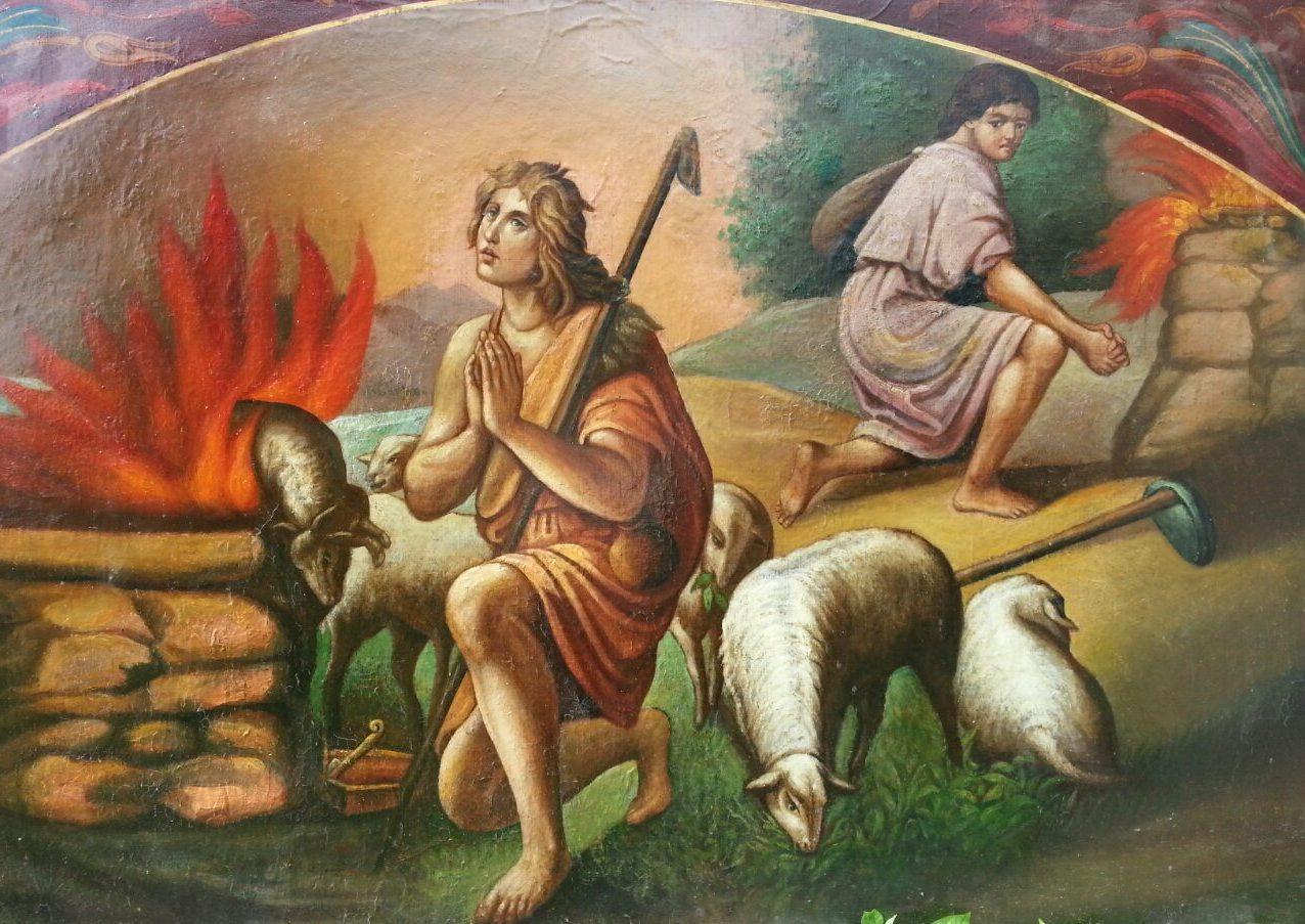 Икона Авель и Каин 19 век