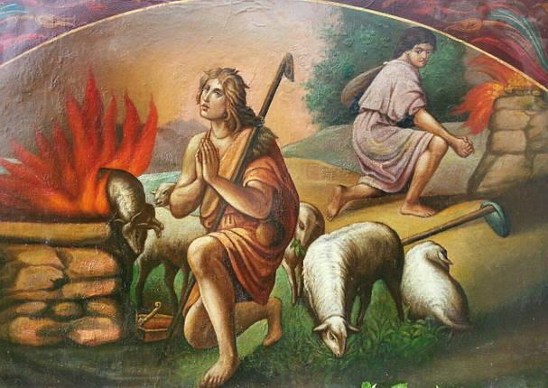 Икона Авель и Каин 19 век, фото 2