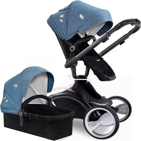 Коляска-трансформер Babysing V-GO, цвет Jeans Blue