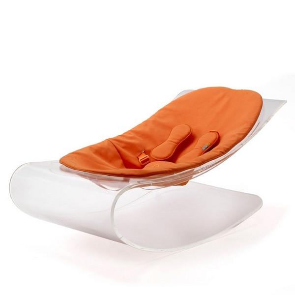 Кресло-качалка Bloom Coco Plexistyl, цвет Transparent/harvest orange
