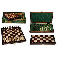 Шахматы магнитные большие коричневые 27х13,5х4см (король-55мм)