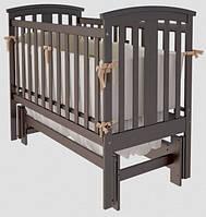 Ліжечко дитяче Woodman Mia (універсальний маятниковий механізм), колір шоколад