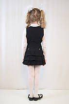 Красивый модный школьный сарафан школьная форма с рюшами, поясом, на молнии, на пуговицах, фото 3