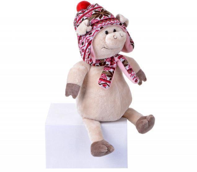 """М'яка іграшка """"Свинка в шапці"""" 48 см"""