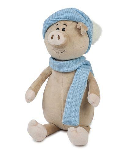 """М'яка іграшка Maxi Toys """"Свин Бен з шарфом і шапкою"""" 28 см"""