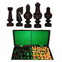 Шахматы SMALL CEZAR коричневые 59x29,5x6см (король-140мм)
