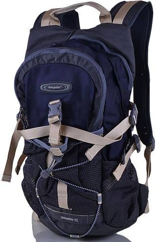 Мужской качественный рюкзак для велопрогулок 12 л. Onepolar W1520-navy синий