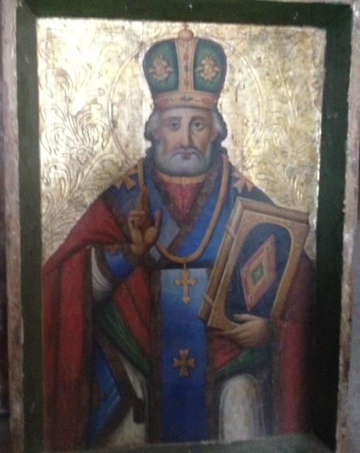 Икона Николай чудотворец 19 век