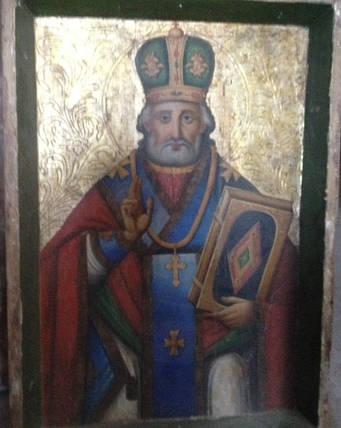Ікона Микола чудотворець 19 століття, фото 2