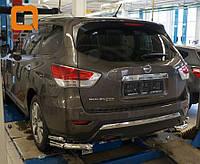 Защита задняя Nissan Pathfinder (2014-) /углы двойные