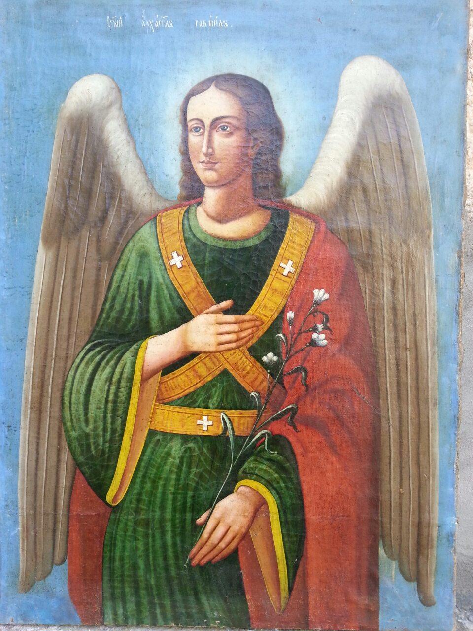 Икона архангел Гавриил 19 век