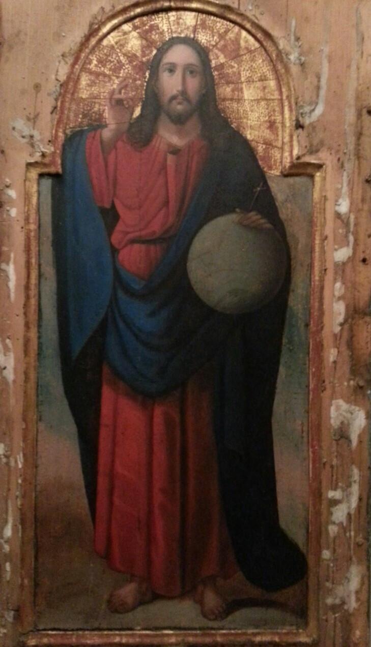 Икона Спаситель мира 19 век