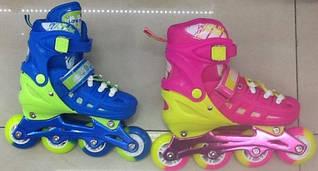 Роликовые коньки детские 16004 (M 30-34), расцветки в ассортименте