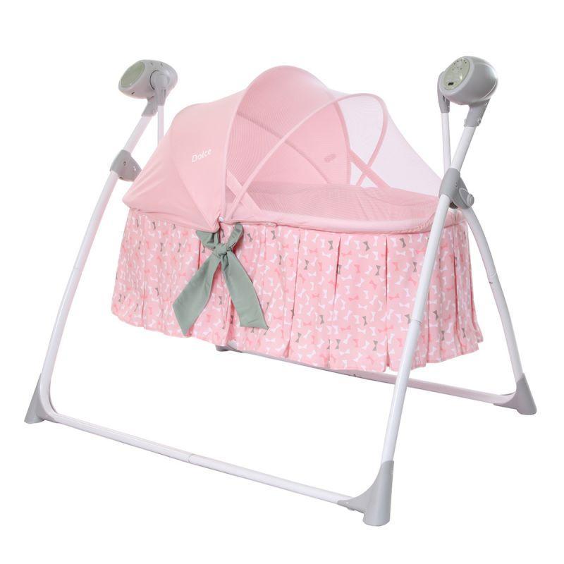 Электронная люлька-колыбель Carrello Dolce CRL-7501, цвет Bow Pink