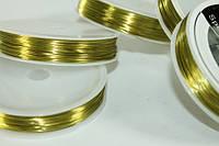 Проволока 50 метров 0.37мм (зеленая/золотая):Золотой
