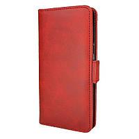 Чехол-книжка Leather Wallet для Xiaomi Redmi 7 Красный