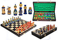 Шахматы МАТРЕШКИ Intarsia 40x20x5см (король-85мм)