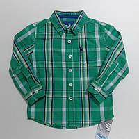 Рубашка для мальчиков в клетку зеленая Rebel