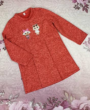 Детское платье  с Лол  86-104 красный, фото 2