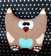 Игрушка- Подушка Кот с сердечком из ткани Soft ручной работы.
