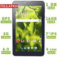 ☎Планшет Lenovo Call 1/16GB 7 дюймов IPS 4-х ядерный GPS/A-GPS навигация 3G 2SIM батарея 3000mAh Android 6