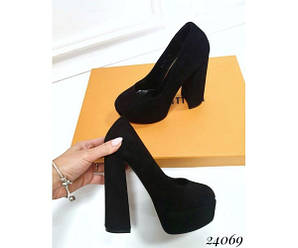 Туфли Женские замшевые туфли на высоком каблуке, 40
