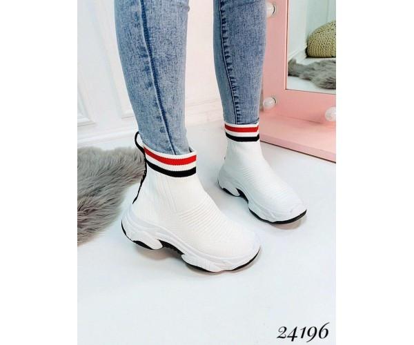 Женские высокие кроссовки-носки текстиль Balenciaga удобные легкие