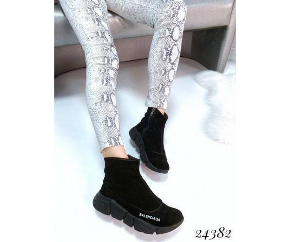 Ботинки Balenciaga из натуральной замши, 36-40