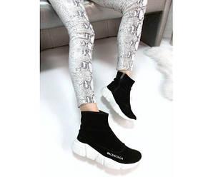 Ботинки Balenciaga на белой подошве