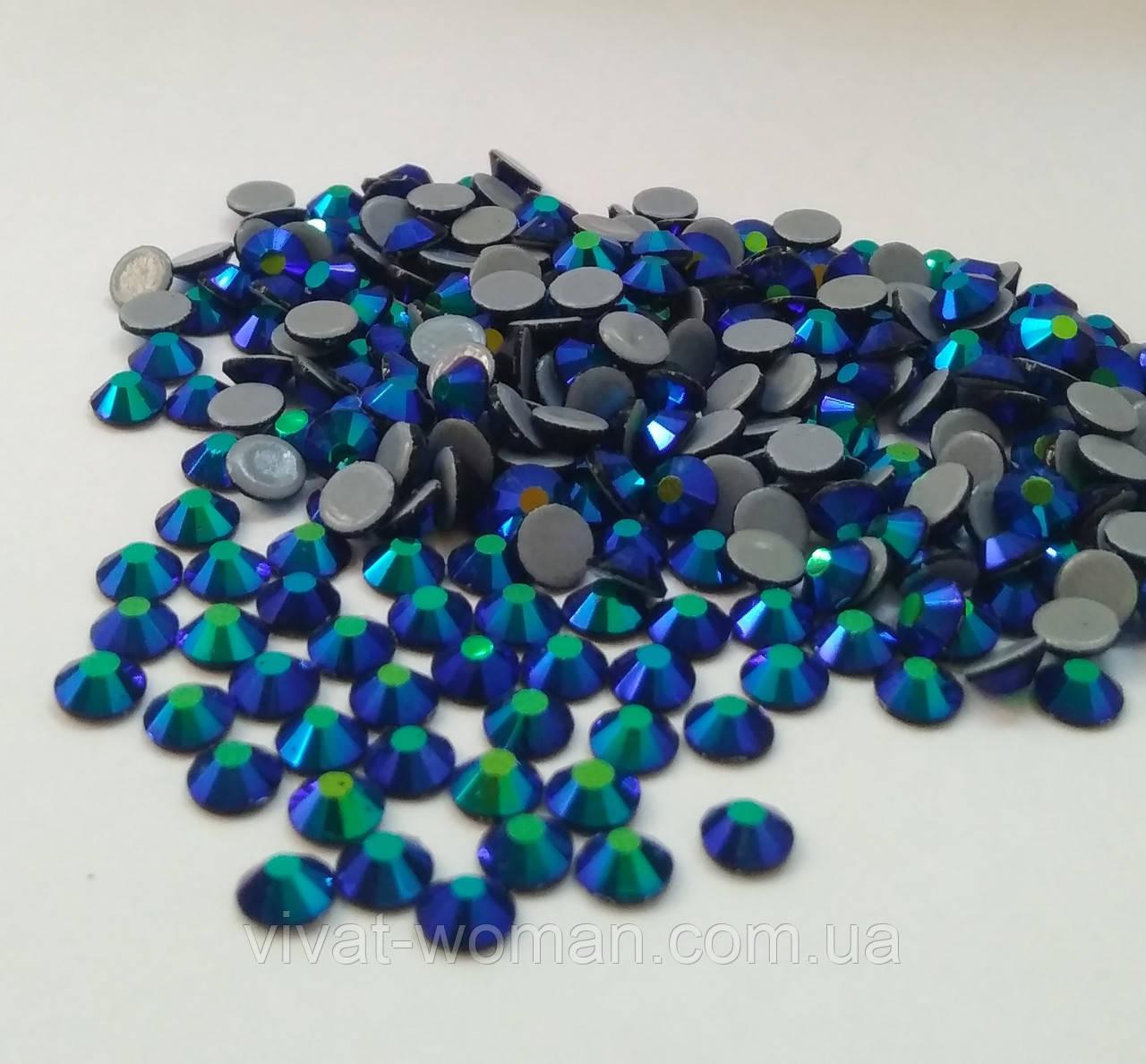 Стразы А+ Премиум, Montana AB (темно синий) SS20 (5,0 мм) термоклеевые. Цена за 144 шт.